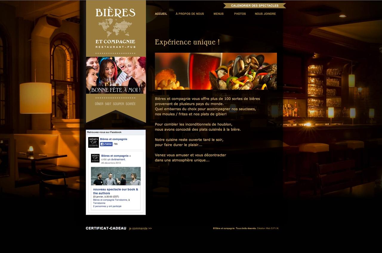Bieres et compagnie site web